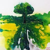 K. Alletter, Baum im Rapsfeld