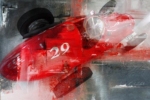 Bernd Michalak, Maserati in the Pit, Technik, Gegenwartskunst, Abstrakter Expressionismus