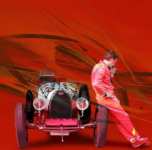 Bernd Michalak, Bugatti Driver, Technik, Menschen: Mann, Gegenwartskunst, Expressionismus
