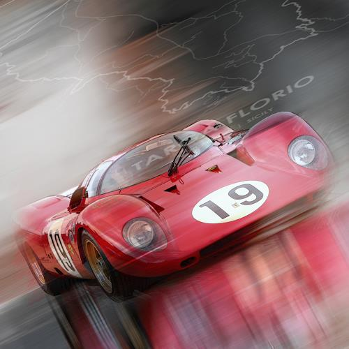 Bernd Michalak, Ferrari 312P at Targa Florio, Sport, Gegenwartskunst