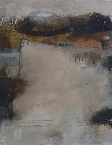 Maura Patrizia Zoller, Nebel im Unterland, Abstraktes, Abstraktes, Gegenwartskunst, Expressionismus