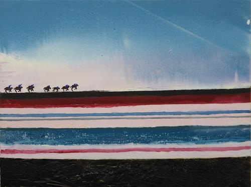 Gerhard Knolmayer, Die blaue Kavallerie, Menschen, Gesellschaft, expressiver Realismus