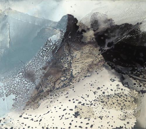 Gerhard Knolmayer, Sturm am Mont Cervin, Landschaft: Berge, Moderne, Expressionismus