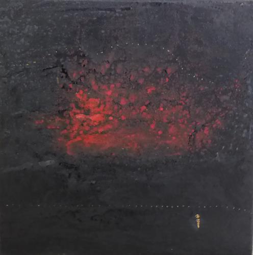 Gerhard Knolmayer, Kasimir Malewitsch blickt auf, Landschaft: Berge, Landschaft: See/Meer, expressiver Realismus