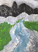 Gerhard-Knolmayer-1-Landschaft-Berge-Natur-Wasser-Gegenwartskunst-Neo-Expressionismus