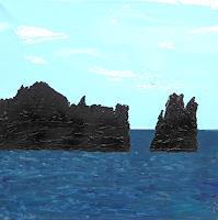 """G. Knolmayer, Galapagos: Devil's Crown, wo sich die Riffhaie """"Gute Nacht"""" sagen"""