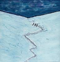 Gerhard-Knolmayer-1-Landschaft-Berge-Landschaft-Winter-Gegenwartskunst-Gegenwartskunst