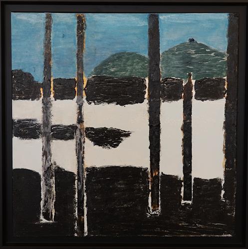 Gerhard Knolmayer, Anselm Kiefer an der Donau, Diverse Landschaften, Symbol, Neo-Expressionismus