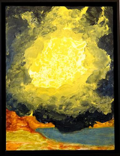 Gerhard Knolmayer, Kurz vor einer Vision Ezechiels, Mythologie, Religion, Renaissance, Abstrakter Expressionismus