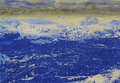 Gerhard Knolmayer, Ein cooler Fjord, Landschaft: Strand, Landschaft: Berge, expressiver Realismus, Expressionismus