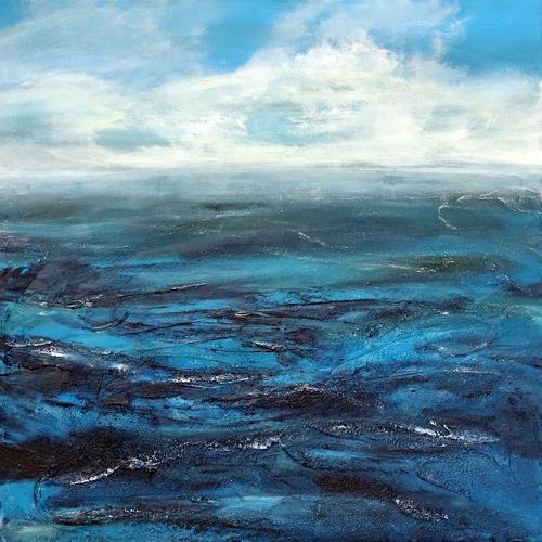 Gerhard Knolmayer, La Grande Bleue, Landschaft: See/Meer, Natur: Wasser, expressiver Realismus, Expressionismus