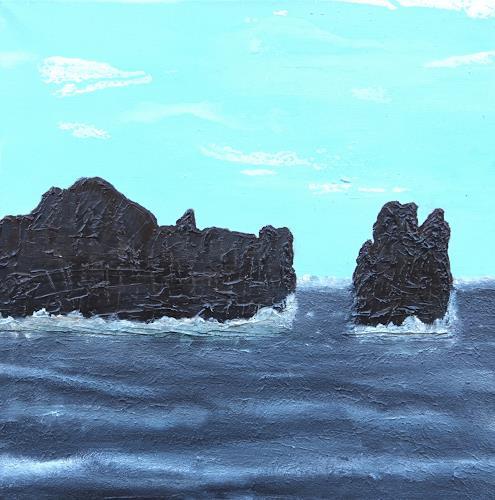 Gerhard Knolmayer, Wo sich Riffhaie 'Gute Nacht' sagen, Landschaft: See/Meer, Landschaft: Tropisch, expressiver Realismus, Abstrakter Expressionismus