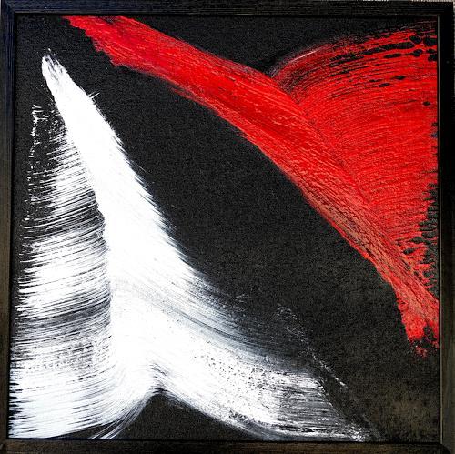 Gerhard Knolmayer, Großer roter Vogel, Tiere: Luft, Landschaft: Berge, Abstrakte Kunst, Abstrakter Expressionismus