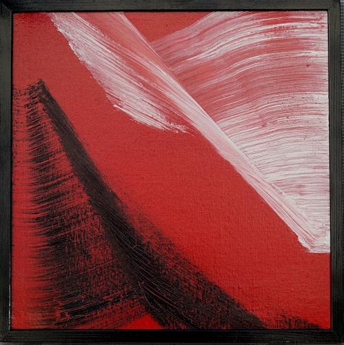 Gerhard Knolmayer, Großer weißer Vogel, Tiere: Luft, Landschaft: Berge, Abstrakter Expressionismus