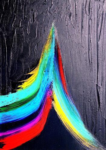Gerhard Knolmayer, Ein Farbkreis hat sich emanzipiert und tritt vor den Vorhang, Bewegung, Fantasie, expressiver Realismus