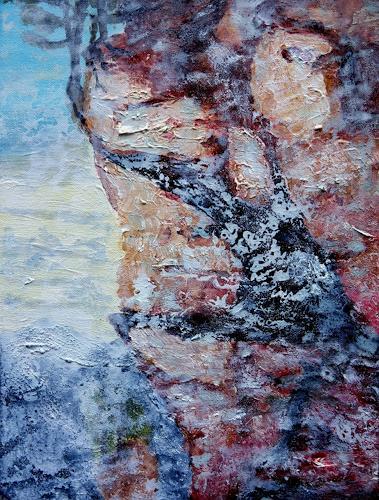 Gerhard Knolmayer, Kaiser Maximilian schwindelt, Landschaft: Berge, Geschichte, expressiver Realismus, Abstrakter Expressionismus
