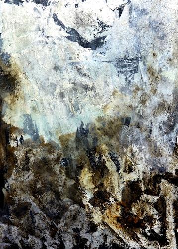 Gerhard Knolmayer, Viewpoint - Dangerous Situation, Landschaft: Berge, Abstrakter Expressionismus