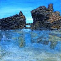 Gerhard-Knolmayer-1-Landschaft-Strand-Landschaft-See-Meer-Moderne-expressiver-Realismus