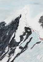Gerhard-Knolmayer-1-Landschaft-Berge-Diverse-Menschen-Moderne-expressiver-Realismus