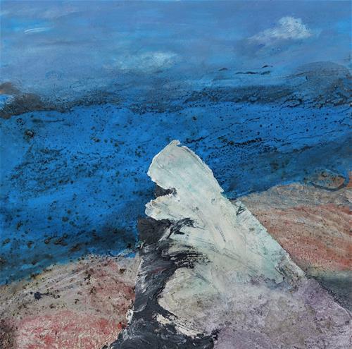 Gerhard Knolmayer, Caspar David Friedrich überlegt noch, Landschaft, Landschaft: See/Meer, Romantik