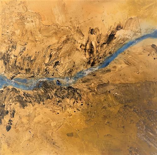 Gerhard Knolmayer, The Canyon of 2021 - Somewhere over the Ocean, Landschaft: Berge, Landschaft, Gegenwartskunst, Expressionismus