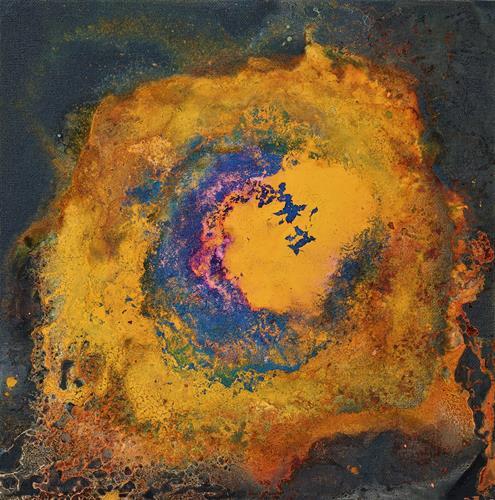 Gerhard Knolmayer, Un atisbo de esperanza, Weltraum, Fantasie, Drip Painting, Abstrakter Expressionismus