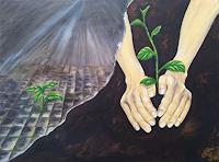 Gabriele-Scholl-Diverse-Pflanzen-Diverses-Moderne-Konkrete-Kunst
