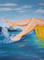 Gabriele-Scholl-Landschaft-See-Meer-Natur-Wasser-Moderne-Naive-Kunst