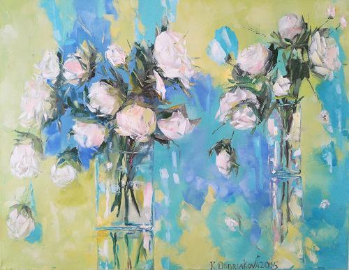 Kseniia Kim, Ihr Geschenk, Pflanzen: Blumen, Stilleben, Expressionismus