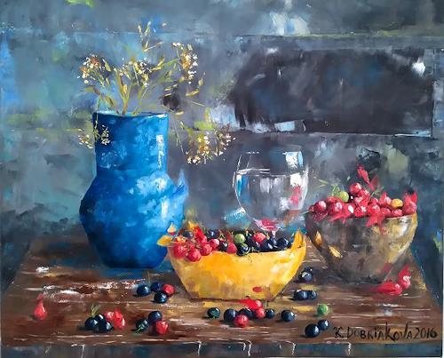 Kseniia Kim, Frischen Beeren, Pflanzen: Früchte, Stilleben, Impressionismus, Expressionismus
