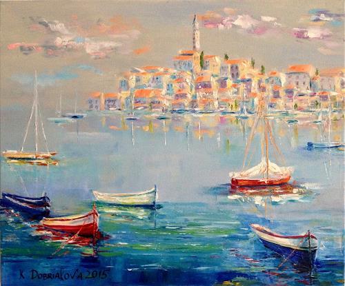 Kseniia Kim, die Adria, Landschaft: See/Meer, Expressionismus