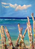 Kseniia Kim, in der Nähe des Meeres