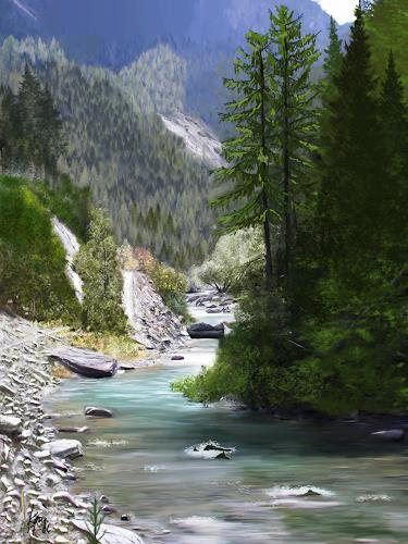 Kay, Spöl, Landschaft, Gegenwartskunst, Expressionismus