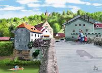 Kay-Landschaft-Huegel-Menschen-Kinder-Gegenwartskunst-Gegenwartskunst