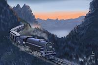 Kay-Romantik-Sonnenaufgang-Landschaft-Berge-Gegenwartskunst-Gegenwartskunst