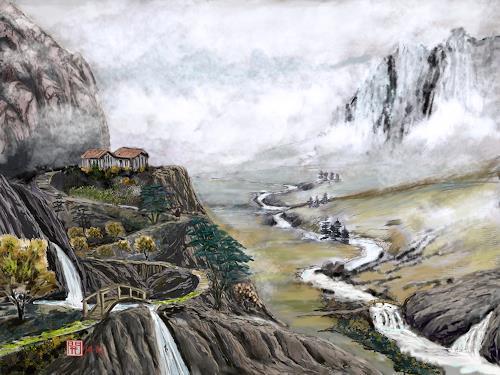 Kay, Once upon a time, Landschaft: Berge, Landschaft: Ebene, Konstruktivismus, Expressionismus