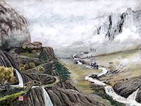 Kay-Landschaft-Berge-Landschaft-Ebene-Moderne-Konstruktivismus