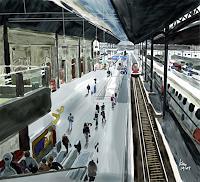 Kay-Menschen-Gruppe-Verkehr-Bahn-Gegenwartskunst-Gegenwartskunst