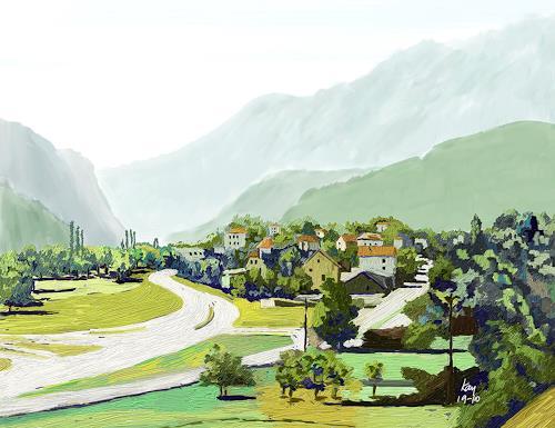 Kay, Chiggiogna, Landschaft: Berge, Natur: Diverse, Gegenwartskunst, Expressionismus