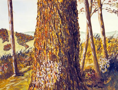 Kay, Trockentechnik, Natur: Wald, Landschaft: Hügel, Gegenwartskunst