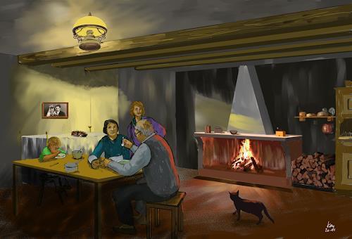 Kay, Küche in Gripp, Menschen: Familie, Arbeitswelt, Gegenwartskunst