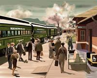 Kay-Verkehr-Bahn-Diverse-Menschen-Gegenwartskunst-Gegenwartskunst