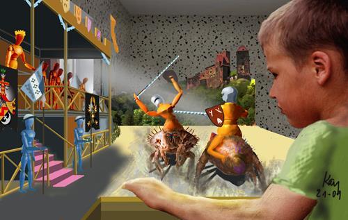 Kay, Kids Play, Humor, Abstraktes, Gegenwartskunst