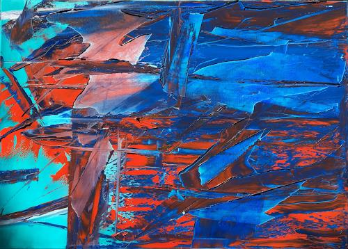 Rico Mocellin, Abstract Oil Painting, Abstraktes, Abstrakter Expressionismus