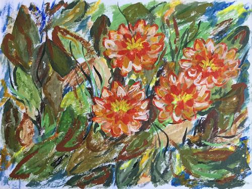Godi Tresch, Teichbunt, Natur, Pflanzen: Blumen