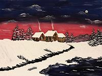 Godi-Tresch-Landschaft-Winter-Natur-Diverse-Moderne-Abstrakte-Kunst