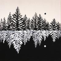 Godi-Tresch-Natur-Wald-Pflanzen-Moderne-Abstrakte-Kunst