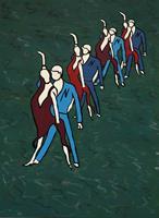 Godi-Tresch-Menschen-Paare-Gefuehle-Moderne-Abstrakte-Kunst