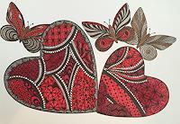 S. Senn-Benes, Schmetterlings-Trio mit HERZ