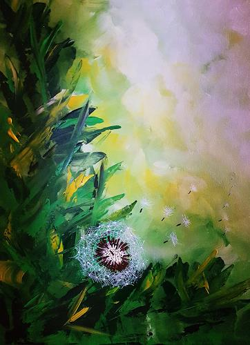 Gerhard Winkler, Pusteblume, Pflanzen: Bäume, Pflanzen, Abstrakte Kunst